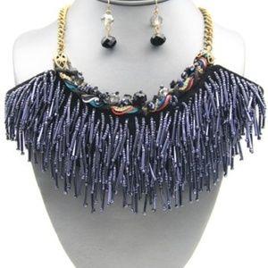 Jewelry - Beaded Fringe Necklace Set
